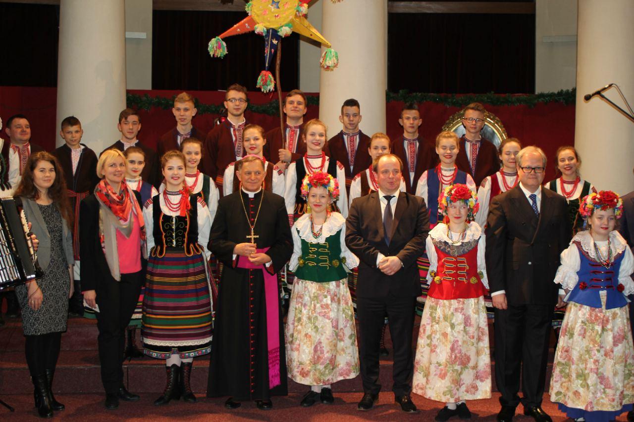 """ZPiT """"Sokołowianie"""" na spotkaniu opłatkowym Polskiej Grupy Zbrojeniowej."""