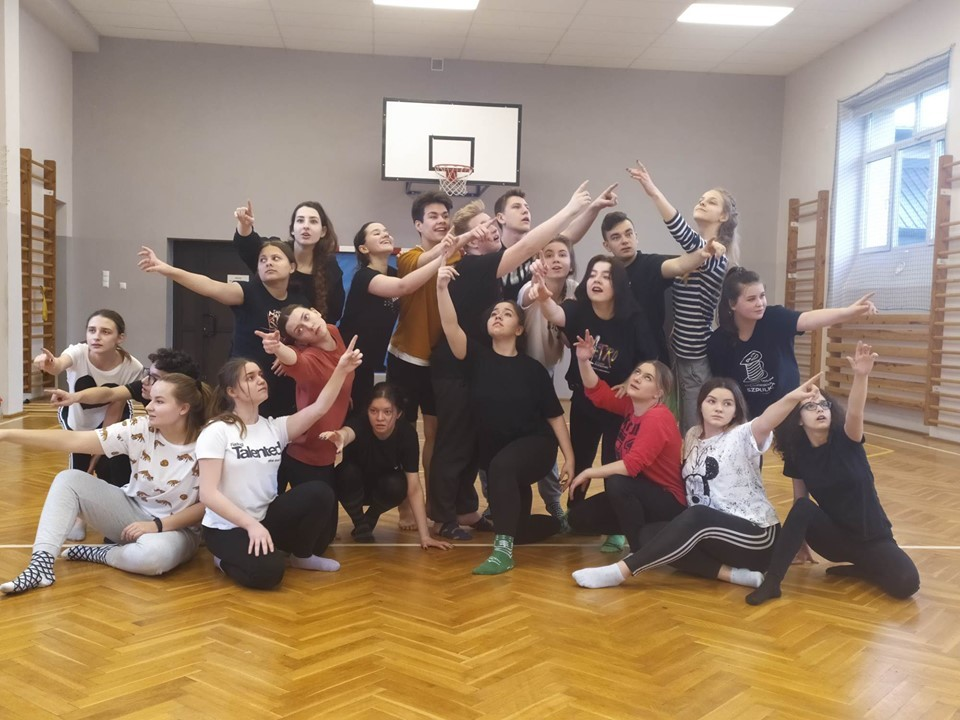"Grupa Teatralna ""Preteksty"" na warsztatach teatralnych"